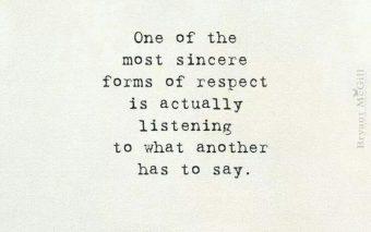 Luisteren in plaats van praten. De ultieme verbinding.