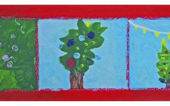 DIY in de kerstvakantie: 'Samen' een groot schilderij maken.