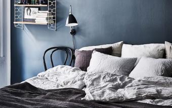 Inspiratie voor je slaapkamer: True Blue baby, we love you.
