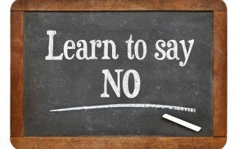 Het effect van het simpele woordje 'nee'.