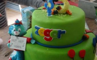 Hoogtepunt van een kinderverjaardag: de taart!