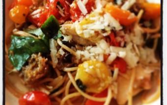 BETTIE'S spaghetti tomato uit de oven