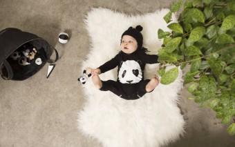 Om op te vreten, deze Panda onepiece voor baby's!