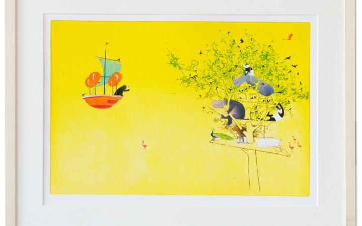 Galerietje stelt deze fantastische illustratie, in lijst, beschikbaar voor een winactie!