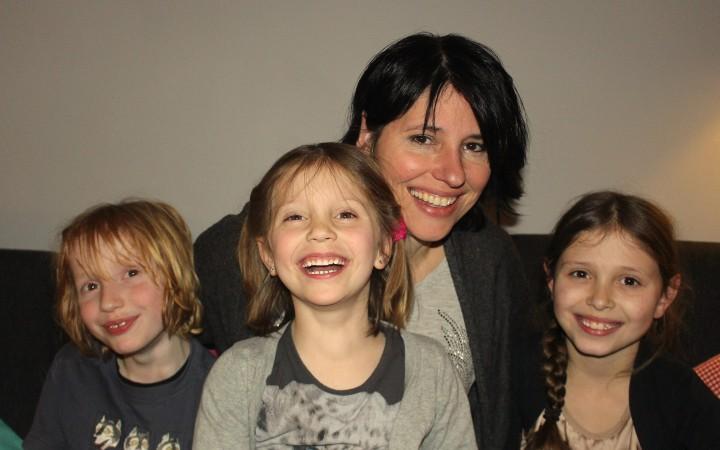 Jolinda en haar kids.