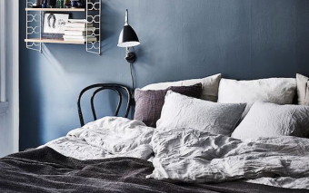 Inspiratie voor je slaapkamer: True Blue baby, we love you.