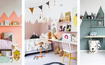 4x toffe muurdecoratie voor kinderkamers.