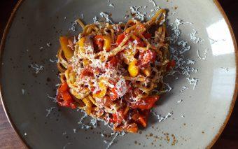 Supersnelle pasta zonder vlees.