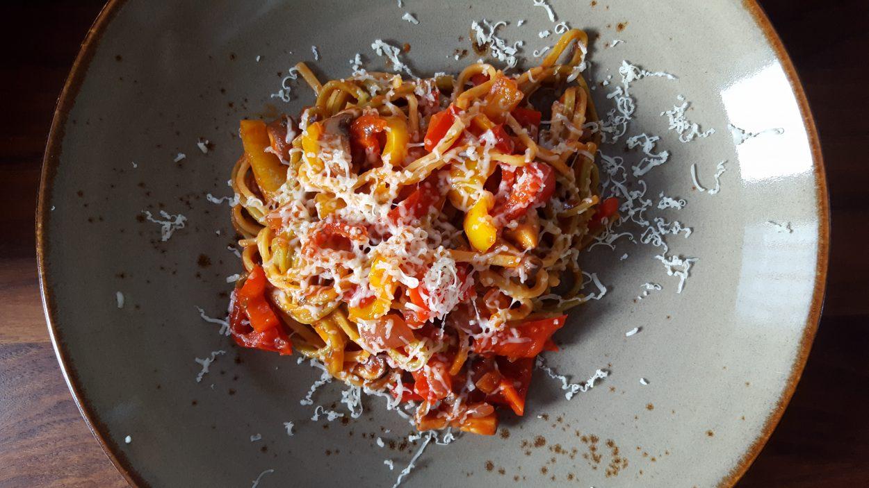 pasta recept zonder vlees.