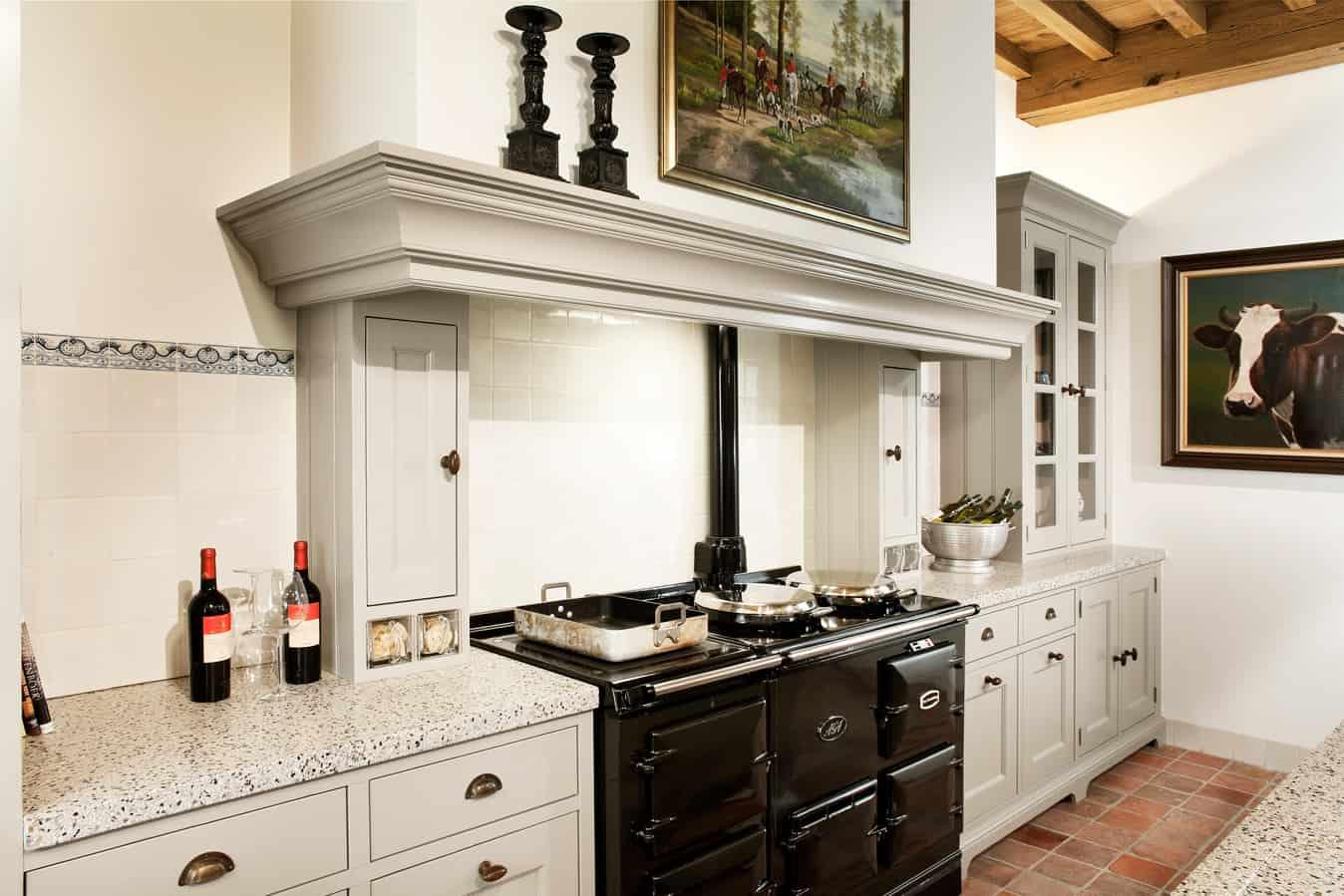 Porselein spoelbak keuken top granieten werkblad een porseleinen of