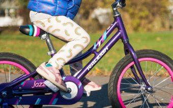 Voor de eerste keer fietsen.
