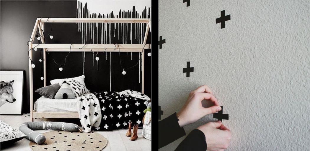 Zwart-wit babykamer