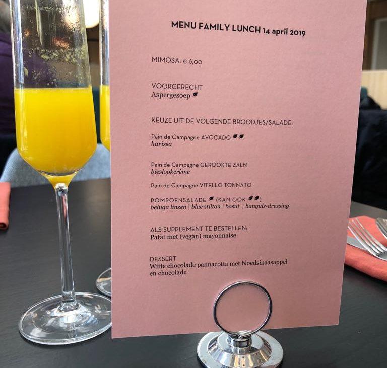 Tip: Family Lunch in het Lloyd Hotel.